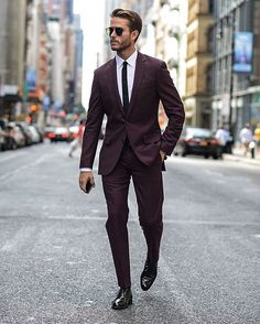 #burgundy #suit by @iamgalla  [ http://ift.tt/1f8LY65 ]