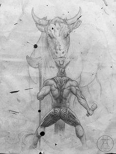 Sketch for the Battle of Orakau mural Drawing Designs, Designs To Draw, Drawing Sketches, Drawings, New Zealand Tattoo, Borderlands Art, Warrior Drawing, Polynesian Art, Maori Designs