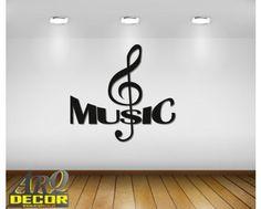 Music - Napis 3d, Dekoracje Muzyczne (NA ZAMÓWIENIE) NR 13 - ARQ - DECOR | Pracowania Dekoracji ARQ DECOR