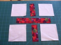 Cross of St George quilt block layout