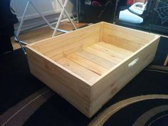 DIY Pallet Under Bed Drawers With Wheels | 101 Pallet Ideas