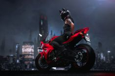 Helmet Upgrades, Accessories, and additions to make your helmet unique as you are. Red Motorcycle, Suzuki Motorcycle, Motorbike Girl, Lady Biker, Biker Girl, Cool Bike Accessories, Bike Seat, Biker Chick, Bike Life