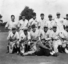"""""""Pee-Wee"""" Reese """"The Bat Boy"""". Harold  """"Pee-Wee"""" Reese front row in sweater and white socks, was bat boy for the New Covenant Presbyterian Church team 37th and Broadway ST's Louisville, Ky July 31 1931:: R. G. Potter Collection"""