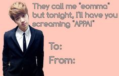 Kpop Valentines..omg I feel so ashamed for putting this..oh well