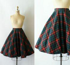 1960s Vintage Skirt - 60s Pendleton Wool Circle Skirt - County Kerry