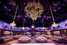 Swooning over this massive floral chandelier at a Stage 17 reception