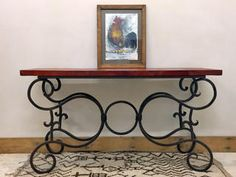 Mexican wrought Iron Side Board
