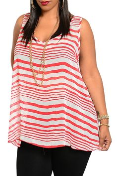 DHStyles Women's Red White Plus Size Trendy Sheer Striped Crochet Back Tank Top - 2X #sexytops #clubclothes #sexydresses #fashionablesexydress #sexyshirts #sexyclothes #cocktaildresses #clubwear #cheapsexydresses #clubdresses #cheaptops #partytops #partydress #haltertops #cocktaildresses #partydresses #minidress #nightclubclothes #hotfashion #juniorsclothing #cocktaildress #glamclothing #sexytop #womensclothes #clubbingclothes #juniorsclothes #juniorclothes #trendyclothing #minidresses…