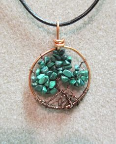 Tree of Life Jade Nuggets Pendant Necklace by watercolorsNmore, $25.00