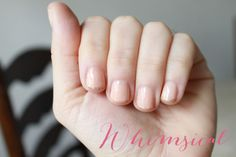 whimsical mani for a blushing bride