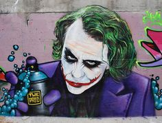 A #streetart tribute - Heath Ledger as Joker