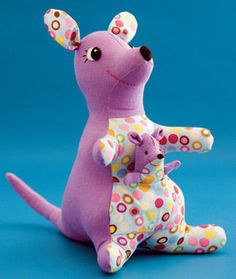 Free Easy Sewing Crafts | kangaroo sewing craft project full article vertical1 Sewing Cute ...