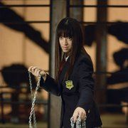 "As the ball and chain-wielding schoolgirl bodyguard of O-Ren Ishii (Lucy Liu), Gogo Yubari (Chiaki Kuriyama, pictured here) is not someone whose lunch money you should steal as she's seen here in ""Kill Bill. Quentin Tarantino, Tarantino Films, Xmen, Kill Bill Costume, Kill Bill Vol 1, Lucy Liu Kill Bill, Pulp Fiction, Hunger Games, Martial"