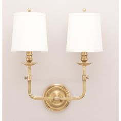 Logan Aged Brass Two Light Wall Sconce Hudson Valley 2 Light Armed Candle Wall Sconces Wa