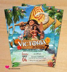 Princess Invitations Pool Party Moana Birthday Invitation Ideas