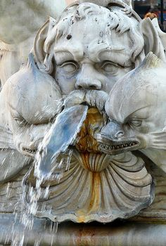 Fountain in Rome.