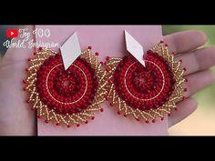 Brick Stitch Earrings, Seed Bead Earrings, Beaded Earrings, Seed Beads, Beaded Jewelry, Crochet Earrings, Handmade Jewelry Box, Handmade Beads, Bead Art