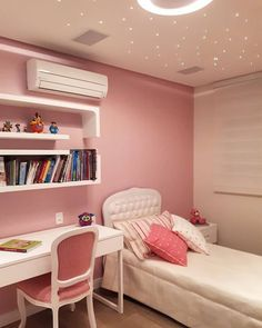 Bedroom Decor For Small Rooms, Study Room Decor, Room Design Bedroom, Girl Bedroom Designs, Room Ideas Bedroom, Home Room Design, Teen Bedroom, Pastel Room, Small Room Design