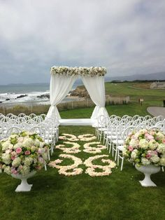 View with these beautiful chairs and floral, yes please Wedding Aisle Decorations, Table Decorations, Shabby Vintage, Centerpieces, Wedding Shit, Wedding Ideas, Beach, Floral, Beautiful