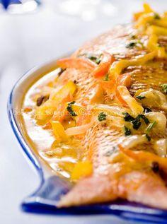 Authentic Dominican Pescado con coco recipe (Fish in coconut sauce), ,