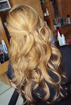 Romantic half up, half down wedding hair