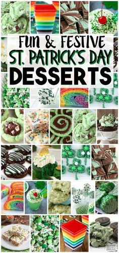Patrick's Day Food recipes from cookies to jello! Collection of EASY St. Patrick's Day recipes for everyone! St Patricks Day Essen, St Patricks Day Food, Fruit Recipes, Dessert Recipes, Dinner Recipes, Potato Recipes, Pasta Recipes, Crockpot Recipes, Soup Recipes