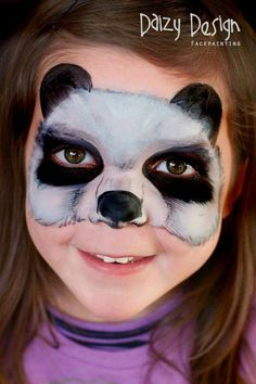 Check out this inspiring Children's Makeup For Halloween by New Zealand artist Christy Lewis and her Daizy Design Face Painting. Adorable animals and more. Panda Face Painting, Bear Face Paint, Mime Face Paint, Face Painting Tips, Face Paint Makeup, Face Painting Designs, Body Painting, Makeup Art, Panda Makeup