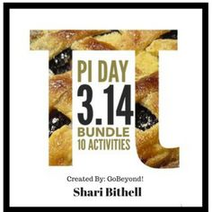 Pi Day is March 14 - You know 3.14!   It's also my favorite day of the year! Geometry is an important math concept for middle school students.  Pi Day is a fun and memorable way to kick off your geometry unit.  I have designed this project to include activities that address many of Gardner's Learning Styles.  Students will not only compute math, but they will also read, draw, run, use measurement, interact with their peers, and of course eat pie!