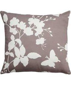 Living Butterfly Cushion - 43x43cm - Mocha.