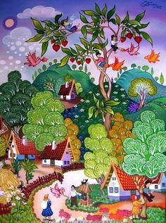 Mundos mágicos do artista Laszlo Kodaly (20 obras)