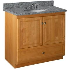 Simplicity by Strasser Ultraline 36 in. W x 21 in. D x 34-1/2 in. H Door Style Vanity Cabinet Only in Natural Alder-01.041.2 at The Home Depot