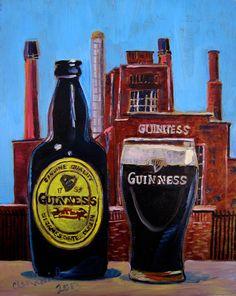 Beer Art Print of Guinness - Year of Beer Irish Beer Art, Man Cave Poster, Gift for Boyfriend, Kitchen Wall Beer Decor, Bar Wall Art Boyfriend Anniversary Gifts, Diy Gifts For Boyfriend, Guiness Beer, Man Cave Posters, Beer Decorations, Craft Beer Gifts, Irish Beer, Beer Art, Beer Humor