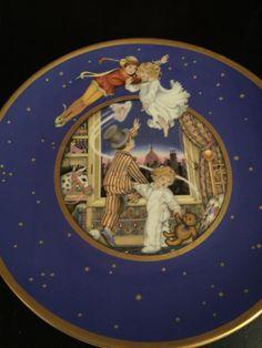 A personal favorite from my Etsy shop https://www.etsy.com/listing/476301782/peter-pan-75th-anniversary-plate