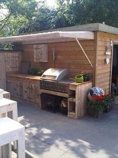 maybe having a pool house built for storage of the paddleboards and it works as . - maybe having a pool house built for storage of the paddleboards and it works as grilling area maybe -