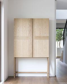 My dream wardrobe! Small, light wood, on stilts! Maybe I can build it myself?