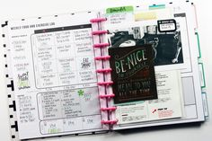 weekly food & exercise log + added inspirational elements in the Fitness Planner of mambi Design Team member April Orr Planner Tips, Weekly Planner, Happy Planner, Planning And Organizing, Planner Organization, Franklin Planner, Workout Log, Fitness Planner, Erin Condren Life Planner