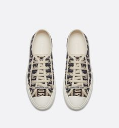 d388656170b25 Walk n Dior Sneaker in Oblique embroidered canvas