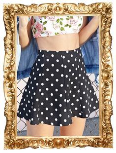 Polka Dot Skater Skirt - $14.80