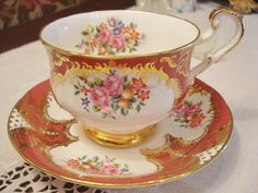 Vintage Paragon Cup Saucer English Porcelain by GraceandPlenty, $58.00