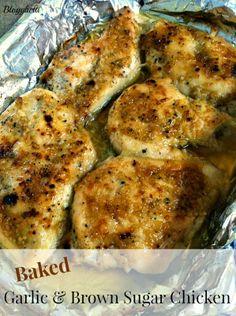 Blogghetti: Baked Garlic and Brown Sugar Chicken