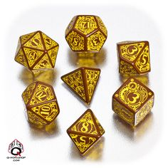 Ooooh! I want these! Gorgeous steampunk style dice set.