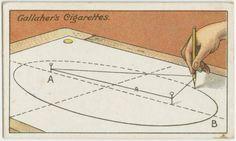 Все знают про то, как нарисовать окружность с помощью нитки и гвоздика. Не менее просто можно изобразить правильный эллипс. Вам для этого понадобится только ещё один гвоздик.