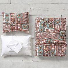 Paloma Paisley Duvet Bedding Set with Duvet Cover, Duvet Insert, Sham, Sheet Set + Pillow Inserts #pbteen