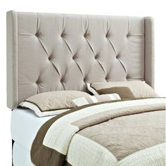 Found it at AllModern - Carlsbad Panel Headboard in Taupehttp://www.allmodern.com/deals-and-design-ideas/p/Headboards-%2B-Beds-Under-%24350-Carlsbad-Panel-Headboard-in-Taupe~ML1801~E14283.html?refid=SBP.rBAZEVQfDFEI2SuP26_8Ao2u-2p2aUrPnm2J0n5S8ZU