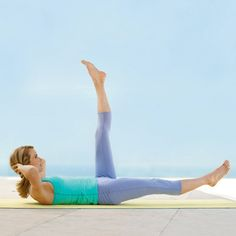 24 Fat-Burning Ab Exercises (No Crunches!) this is actually a pilates move that works!