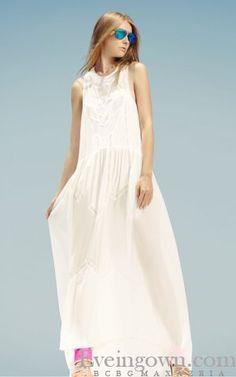 2016 Tahlia Sleeveless Panel White BCBG Runway Dress