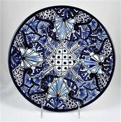 Talavera Dinner Plate - 11\  Another one of the pieces in my collection.  sc 1 st  Pinterest & Talavera Plate from Talaverashop.com | Pottery and Tile ...