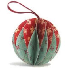 Easy To Make Christmas Ornaments Simple Crafts.  I like the vintage feel of these patters but would look equally modern with different colours and prints