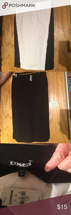 Stretch knit pencil skirt Stretch knot pencil skirt, colorblocking design Express Skirts Pencil