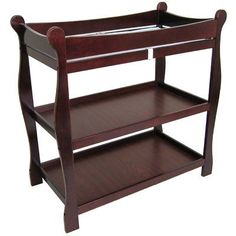 Shop for Badger Basket Sleigh Style Baby Changing Table. Get free delivery On EVERYTHING* Overstock - Your Online Baby Furniture Shop! Baby Changing Table, Changing Pad, Changing Station, Kids Bookcase, Thing 1, Cherry Finish, Baby Supplies, Nursery Furniture, Nursery Room